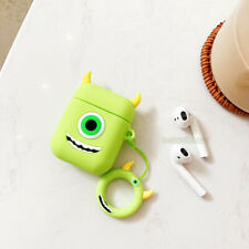 3D Cartoon Monster Mike Headset Airpods Charge Case Cover For Airpod + Ring