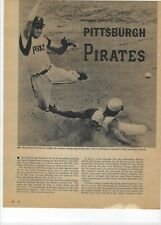 1960 Pittsburgh Pirates Major League Baseball Magazine 2 Full Pages Print Ad