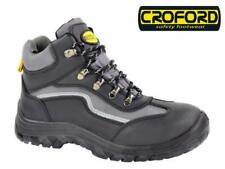 Mens Work Safety Boots Croford Steel Toe Cap Slip Resistant Breathable Shoes