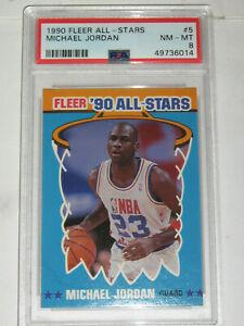 1990-91 Fleer All-Stars Michael Jordan PSA 8