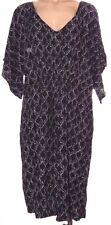New Liz Lange Maternity XXL Black & Ivory print short kimono sleeve sun dress