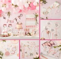 Hen Party Accessories Team Bride To Be Floral Pink & Rose Gold Party Decorations