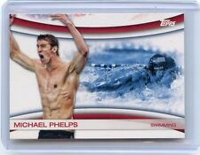 2012 TOPPS #OLY-18 MICHAEL PHELPS OLYMPIC SWIMMING CARD, USA SWIMMING
