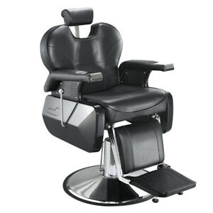 Styling Barber Chair Reclining Barber Chairs Hydraulic Pump Chair PU Leather NEW