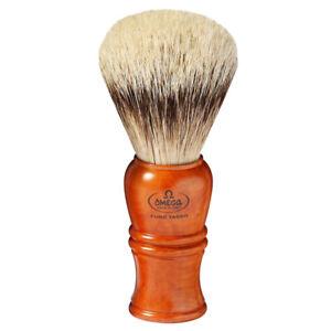 Premium Shaving Brush Root & Silvertip Badger Hair 25mm Omega Made IN Italy