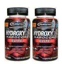 2 BOTES HYDROXYCUT HARDCORE ELITE 110 capsulas MUSCLETECH Quemagrasas