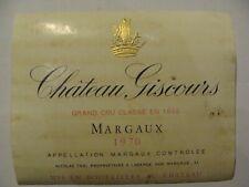 Etiquette - Château GISCOURS - 1970 - Margaux - Grand Cru Classé - (E4)