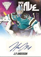 J.P. Anderson 2011-12 Panini Titanium Hockey New Wave Signatures