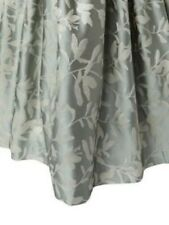 $925! NWT Ann Gish Willow Frost / Ivory 100% SILK KING Gathered Bedskirt