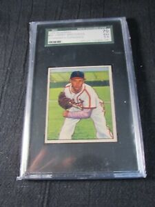 1950 BOWMAN #90 - HARRY BRECHEEN - ST. LOUIS CARDINALS PITCHER  - SGC 70/EX+