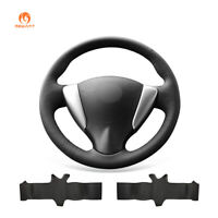 Black PU Leather Car Steering Wheel Cover for Nissan Tiida Sylphy Sentra Versa