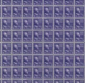 #807 Thomas Jefferson full mint sheet of 100 WASHINGTON PRESIDENTIAL MNH OG
