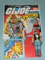 1985 GI Joe Cobra Dreadnok Torch v1 Action Figure w/ File Card Back *Complete
