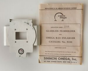 Simmon Omega 35mm Full Frame Filmholder Negative Carrier for B22 Enlarger