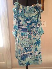 Lilly Pulitzer Fresh Catch Dress Sz 10 Silk