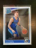 Luka Doncic 2018-19 Panini Donruss Optic ROOKIE Card RC #177 Dallas Mavericks