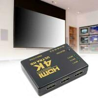 4K*2K 3in 1out HDMI Hub Splitter TV Switcher Adapter For HDTV 2020 HD PC Q7M1