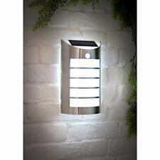 Solar Powered Stainless Steel 2 in 1 Soho Wall Light With PIR Sensor