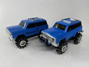 "Vintage 1980s Schaper Stomper JEEP ""Cherokee Chief"" (2) Blue 4x4 - VHTF"
