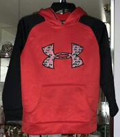 Under Armour Boys Youth S Hoodie Hooded Sweatshirt Red Black