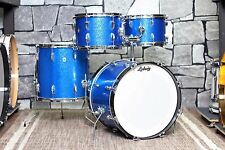 Ludwig Hollywood Blue Sparkle 4pc Drum Set -1967 Vintage-Price Drop!