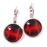2x orecchini bigiotteria ELETTROCARDIOGRAMMA orecchino cuore cardiologa regalo