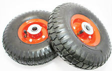 """10"""" Pneumatic Wheels x 2 For Trolley Dolly Sack Truck New RM023"""