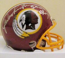 Joe Washington signed Redskins mini helmet - Super Bowl XVII Champs Inscription