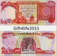 750,000 3/4 Million 30 x 25000 NEW IRAQI DINAR UNCIRCULATED IQD-CERTIFIED!