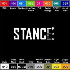 STANCE Decal Vinyl Sticker Illest Fresh Clean Stance Euro Hoonigan