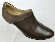 Ecco Womens Ankle Booties Sculptured Heel Brown Leather Zip 40 EU / 9 - 9.5 US