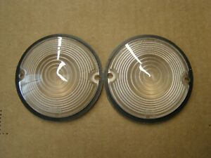 NOS OEM Ford 1960 Edsel Park Light Lamp Lenses Pair Ranger Villager