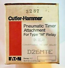 Cutler Hammer D26MTE Relay, Pneumatic Timer On Convertible to off
