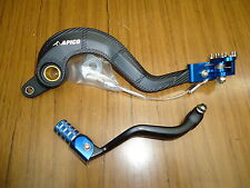 New KTM SXF EXC 250/400/350/450/500/530 07-15 Rear Brake & Gear Pedal Lever Blue