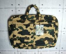 A Bathing Ape x Porter 3WAY Briefcase Yellow Camouflage F/S from JAPAN