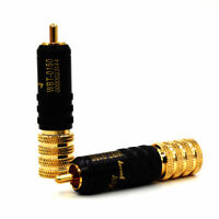 4pcs 24K gold plated RCA connector plug for audio interconnect cable