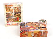 plastic cubes puzzle Masha and the Bear educational toys children mosaic 12psc