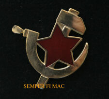 SOVIET UNION HAMMER AND CYCLE LAPEL HAT PIN RUSSIA STAR USSR COMMUNISTS TIE TAC