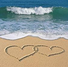 "Birthday Card ""Love Hearts on the Beach"" for Husband Wife Partner - FREEPOST!"