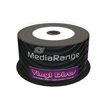 100 MEDIARANGE CD -R BLACK DYE 52x VINYL STAMPABILI cdr cd r ck 50 mr226 vinile