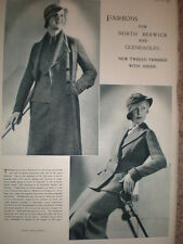 Marshall and Snelgrove London fashion Gleneagles and North Berwick 1933 advert