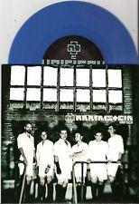 """Rammstein - Haifisch  UK 7"""" blau Vinyl  No 966  numm Edition"""