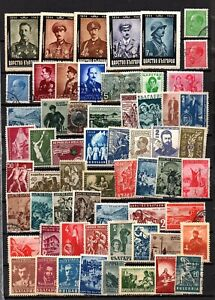 BULGARIA - 185 USED/HM STAMPS - (SEE 3 SCANS)
