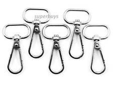 5pcs Silver 47mm Metal Lobster Clip Swivel Snap Hook Backpack for 20mm Strap