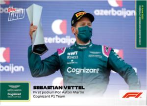 ➠ Topps Now Formula 1 #16 Sebastian Vettel First Podium for Aston Martin F1 Team