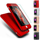 Ultra thin 360° Hard Hybrid Case Cover + Tempered Glass For iPhone 7 / 7 Plus 6S
