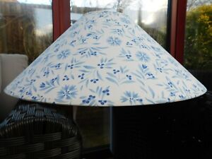 Vintage M & S Blue/White Large Ceiling Lampshade