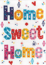 Cross Stitch Kit ~ Janlynn Colorful Home Sweet Home Room Sign  #021-1833