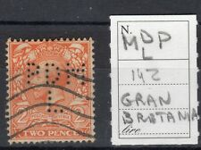 GREAT BRITAIN - STAMP 2 p. (n.142) PERFIN MDP/L , USED