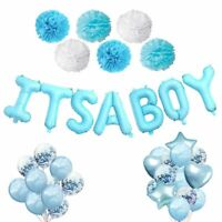 Baby Boy Gender Reveal Party Latex Foil Balloons Confetti Baby Shower Decoration